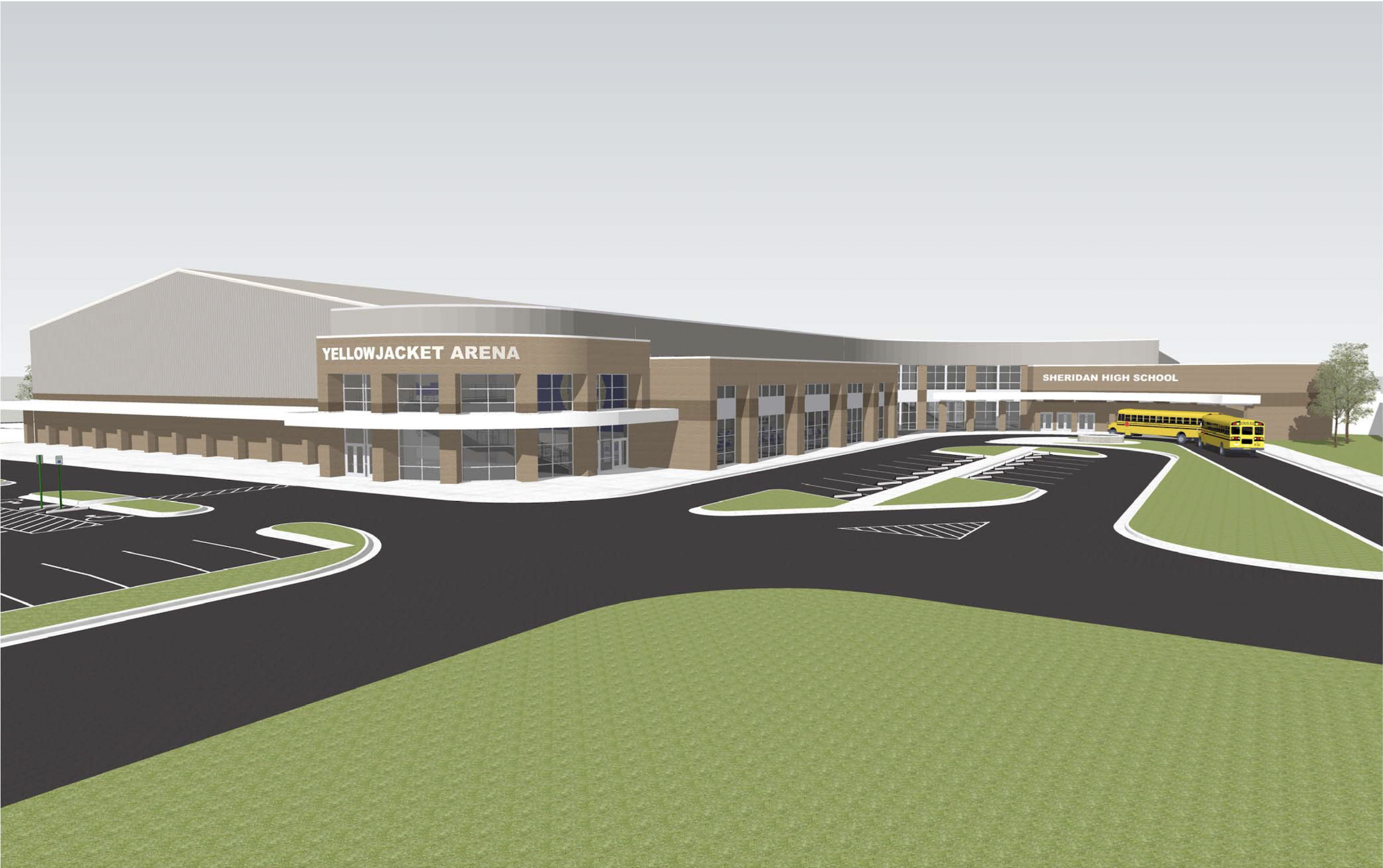 Rendering of the high school addition to be built in 2019