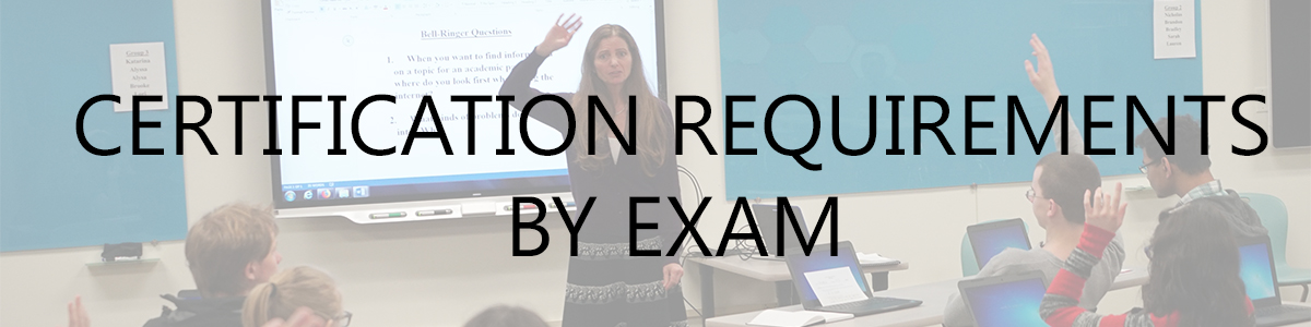 Certification Requirements by exam