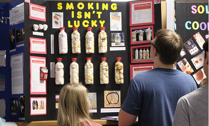 "Science Fair ""Smoking isn't Lucky"""