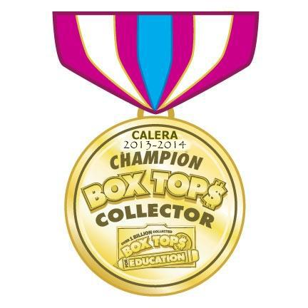 Calera 2013-14 Box Top Collector Champion, Box Tops for Education