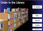 Order in the library button