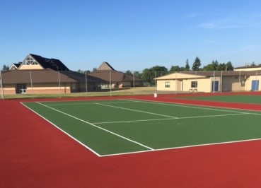 BES Tennis Courts Resurfaced
