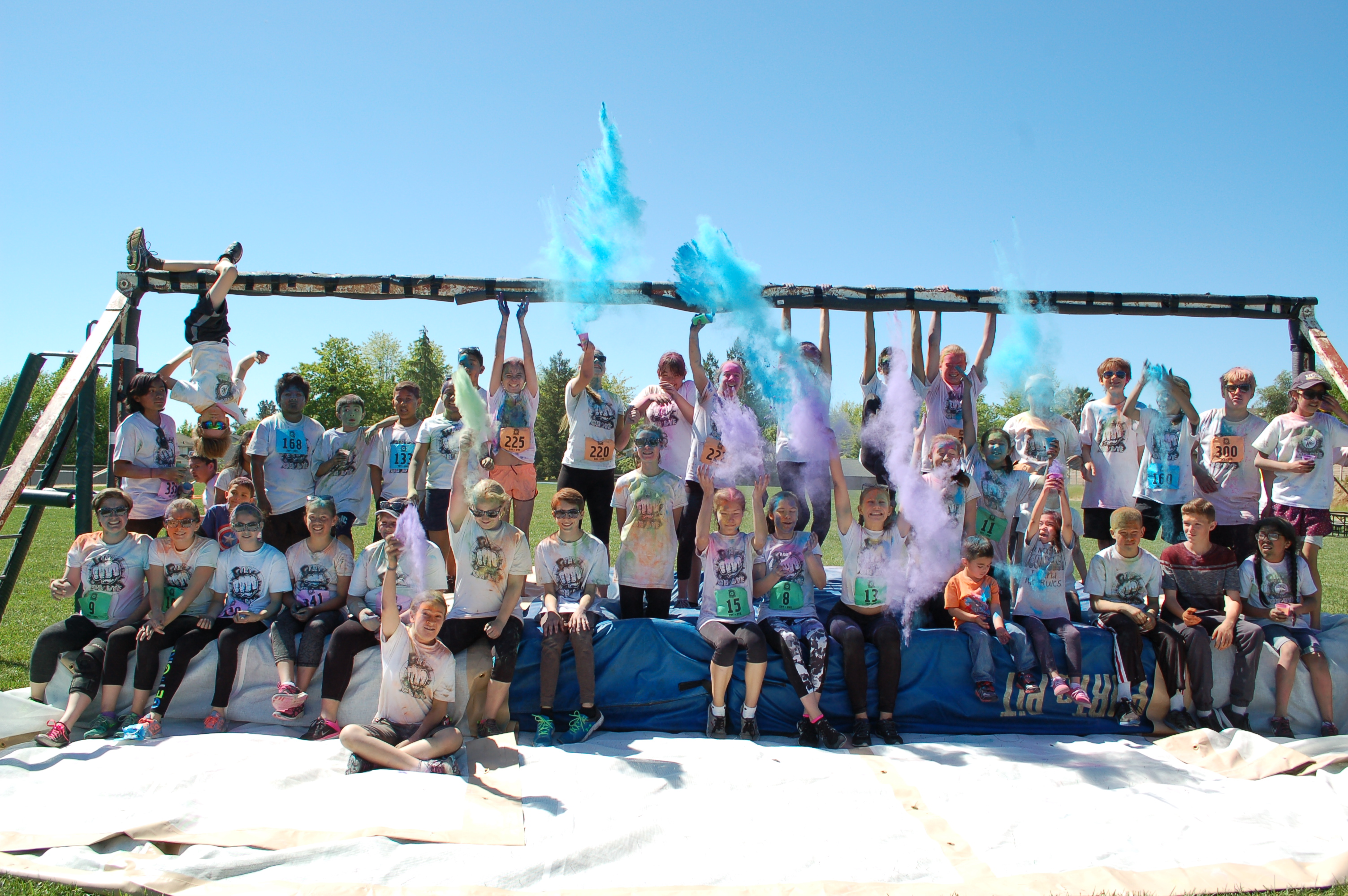 Colorful Cali kids after the Try or Dye event